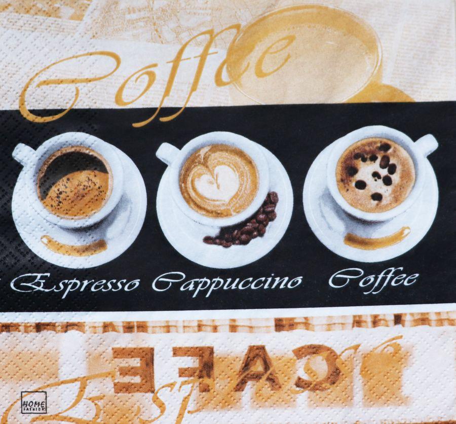 Салфетка бумажная 30*30 Вкус кофе