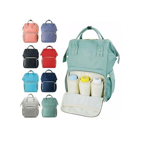 Сумка-рюкзак для мамы Mummy Bag: цвет – тёмно-зелёный.