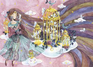 Почтовая открытка Принцесса бабочек