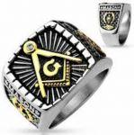 Мужской перстень Spikes с масонской символикой (арт. 280150)