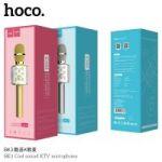 Микрофон-колонка Hoco BK3 Cool sound, серый