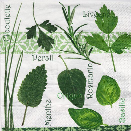Салфетка бумажная 30*30 Пряные листья