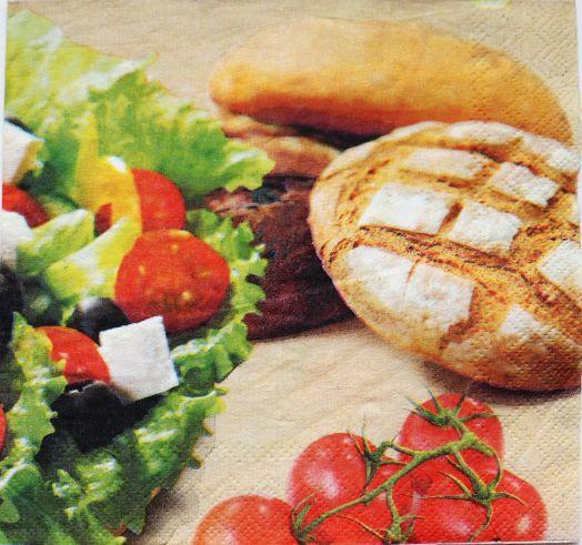 Салфетка бумажная 30*30 Греческий салат
