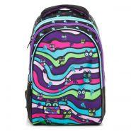 Рюкзак ранец Hatber STREET -Цветные совы- 30х42х20 см полиэстер 3 отделения, 1 потайной карман на спинке (арт. NRk_37092)