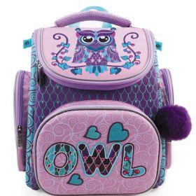 Рюкзак Hatber COMPACT PLUS-Owl- 37х30х17см EVA материал светоотраж. 1 отделение 3 кармана в комплекте мешок (арт. NRk_31007)