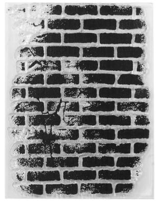 Силиконовый штамп Кирпичная стена 10*7 см