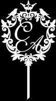 Топпер свадебный герб с инициалами