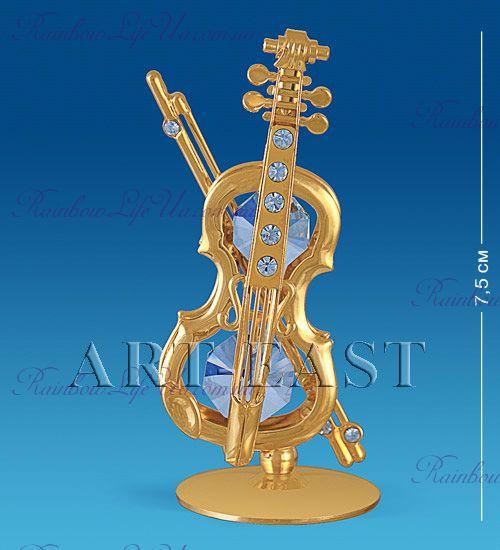 "Фигурка скрипка с камнями ""Swarovski"""