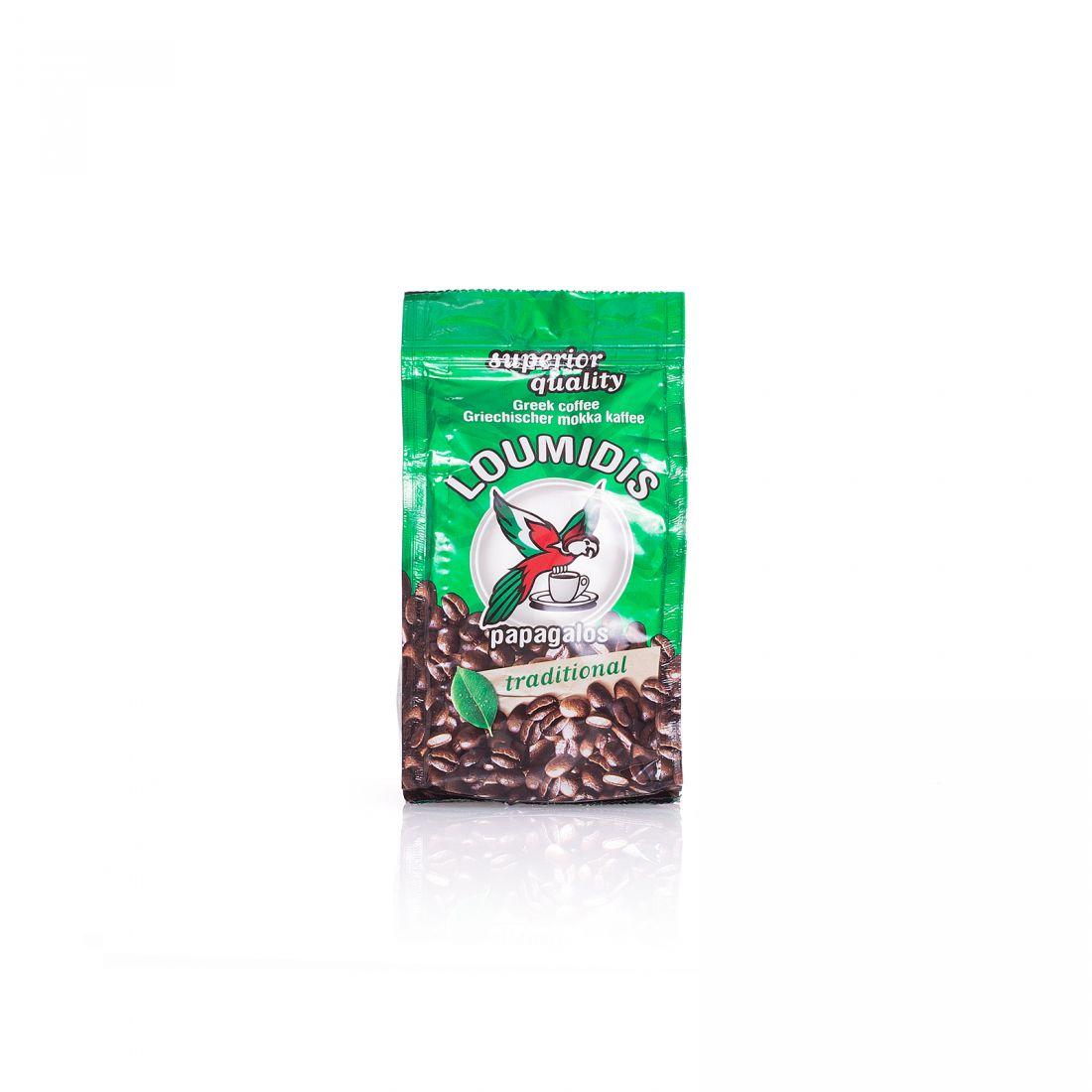 Кофе натуральный молотый Loumidis Papagalos - 96 гр