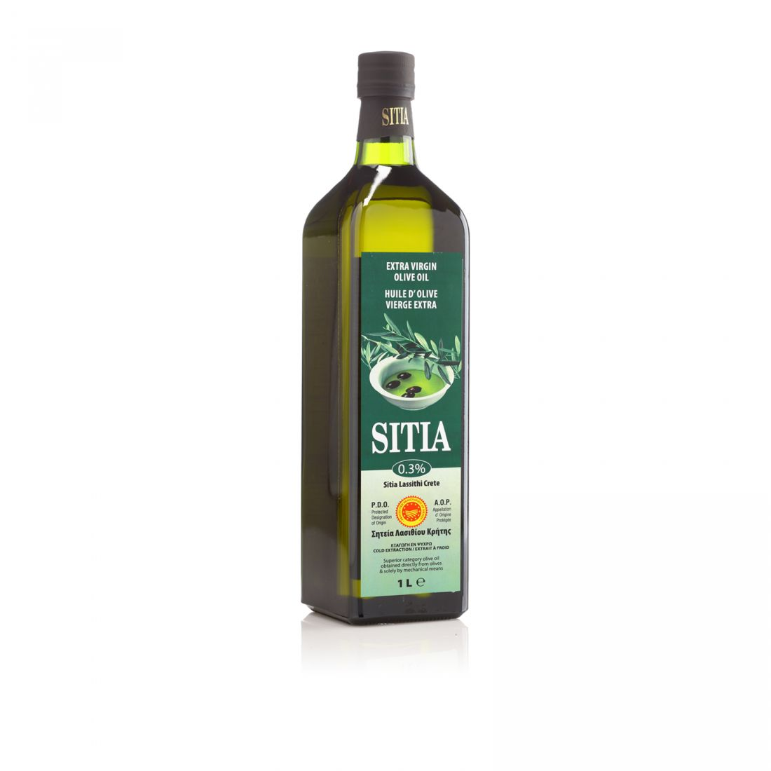 Оливковое масло SITIA - 1 л 0.3 экстра вирджин PDO стекло
