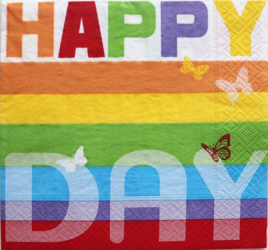 Салфетка бумажная 30*30 Happy day