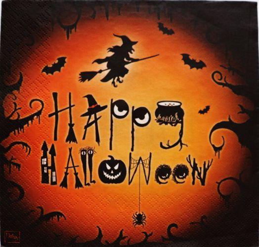 Салфетка бумажная 30*30 Happy halloween
