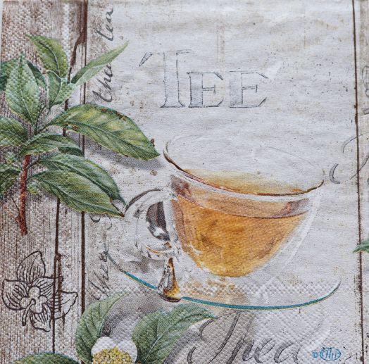 Салфетка бумажная 25*25 Чай