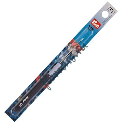 Крючок для тонкой пряжи с пластиковой ручкой и колпачком, сталь, 1,75 мм, Prym