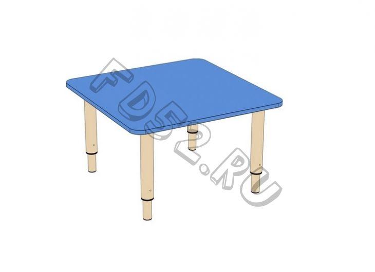 Стол ЛДСП Квадратный на регулируемых ножках мод.1 (700*700)