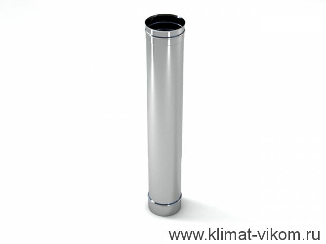 Труба ф 130,  0,5м, AISI 439/1,0мм