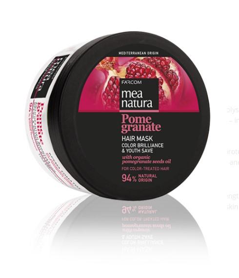 Mea Natura Pomegranate, Маска для волос Сияние Цвета и Сохранение Молодости, 250 мл.