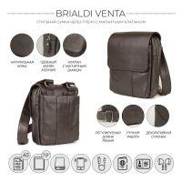 Кожаная сумка через плечо BRIALDI Venta (Вента) relief brown
