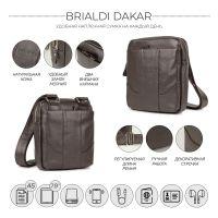 Кожаная сумка через плечо BRIALDI Dakar (Дакар) relief brown