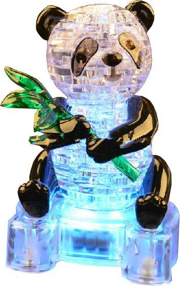 3D-пазл Магический Кристалл Большая Панда с веткой со светом (9055А), 58 дет.