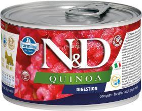 Farmina N&D консервы для собак мелких пород с киноа, для поддержки пищеварения 140г
