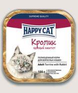 Happy Cat Паштет для кошек Кролик с кусочками 100 г