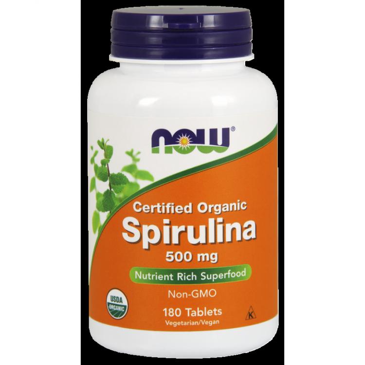 Spirulina 500 мг от Now 180 таблеток_