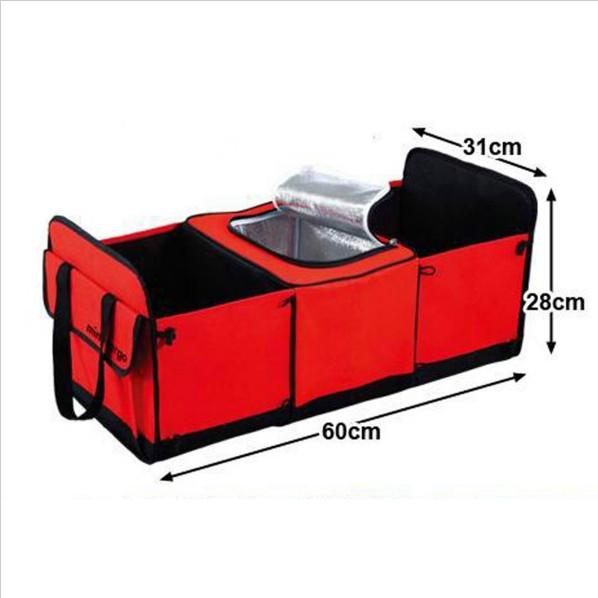 Органайзер - холодильник в багажник автомобиля TRUNK ORGANIZER & COOLER, Цвет Красный