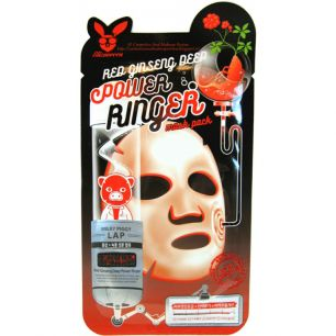 POWER RINGER_RED GINSENG DEEP POWER RINGER MASK PACK Маска для лица тканевая  23мл