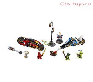 Конструктор PRCK Ниндзя Мотоцикл-клинок Кая и снегоход Зейна 31184 (70667) 402 дет