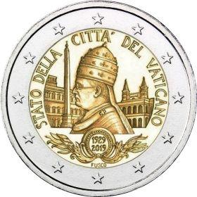 90 лет основания государства Ватикан  2 евро Ватикан 2019