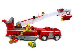 Большая Пожарная машина Щенячий Патруль и 3 щенка на машинках.