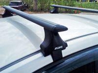 Багажник на крышу Renault Fluence, Атлант, крыловидные аэродуги (черный цвет)