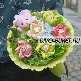 """Букетик из конфет №335-1к """"Ветерок"""""""