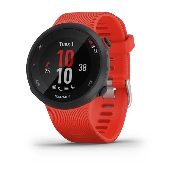 Часы Garmin Forerunner 45 с красным ремешком