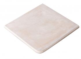 Ступень угловая Exagres Alhamar Cartabon Fior. Blanco 33×33.5