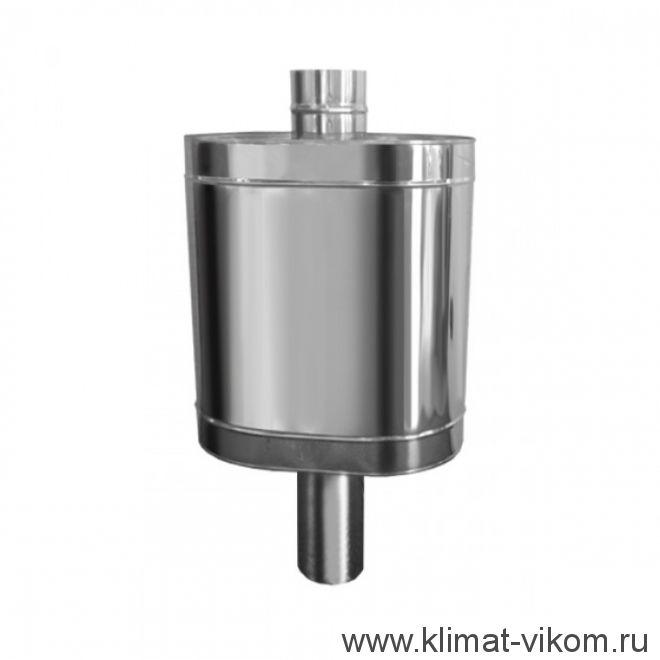 "Бак на трубе для печи, 60л, ф 115, AISI 439/0,8мм, (штуцер 3/4"")"
