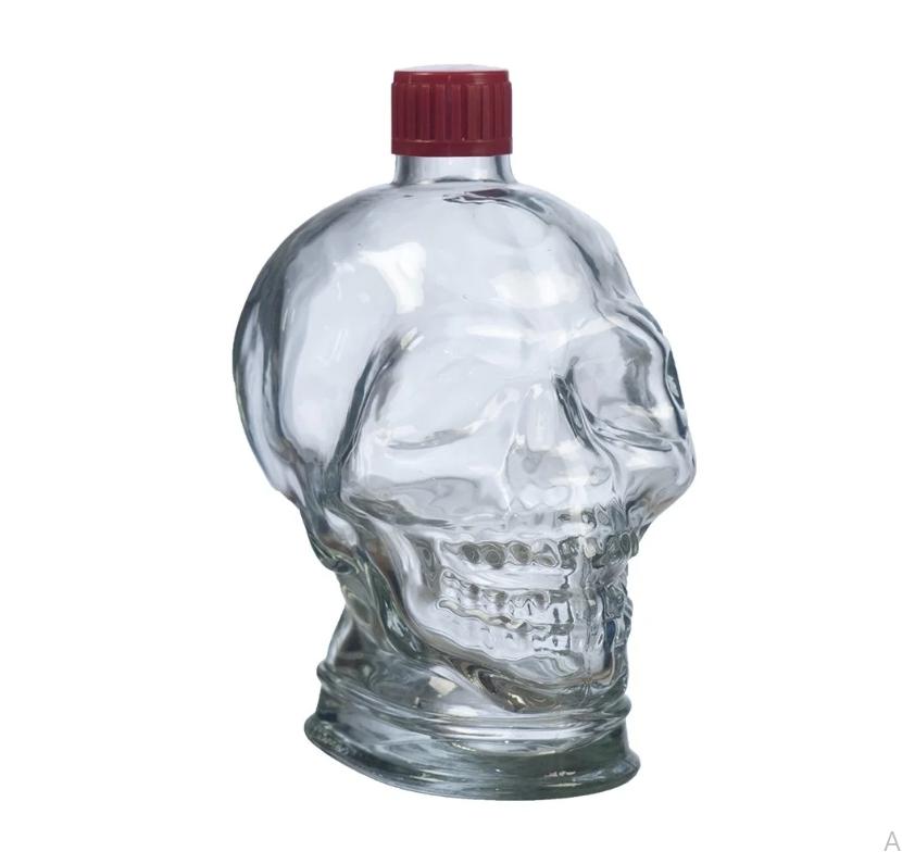 Бутылка Череп с пробкой, 1 литр