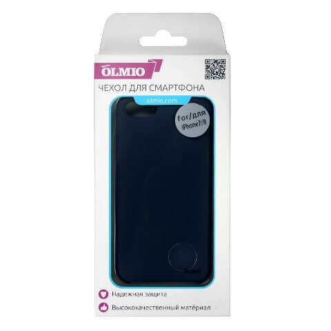 Чехол Olmio Silicone Velvet для iPhone 7/8 Красный
