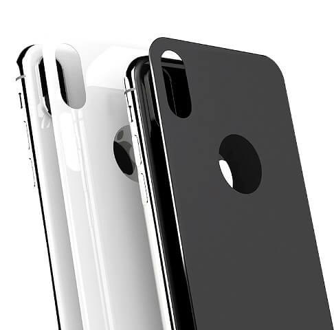 Защитное стекло на заднюю панель 5D Glass PRO для iPhone X Черный