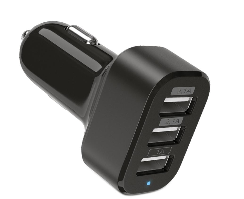 Автомобильное зарядное устройство на 3 USB-разъема (2.1А, 2.1А, 1А)