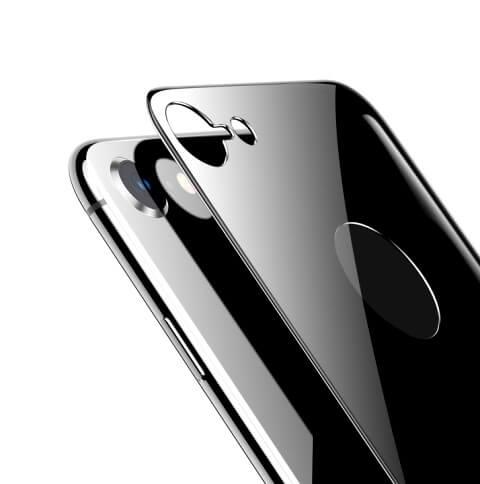 Защитное стекло на заднюю панель 5D Glass для iPhone 8 Черный