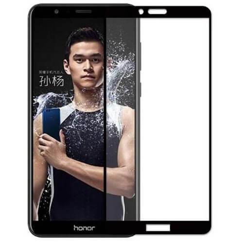 Защитное стекло полное (2.5D) для Huawei Honor 7A, Y5 Prime 2018 Черный