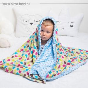 """Одеяло Крошка Я """"Мистер Хрю"""" 110х140 см,цвет голубой, хлопок/полиэстер"""