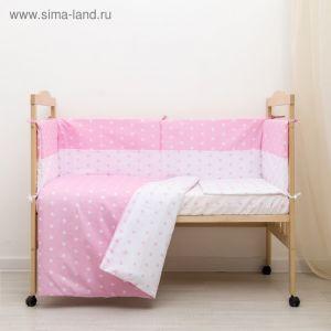 """КПБ """"Ноченька"""", цвет розовый, бязь хл100% 3837535"""