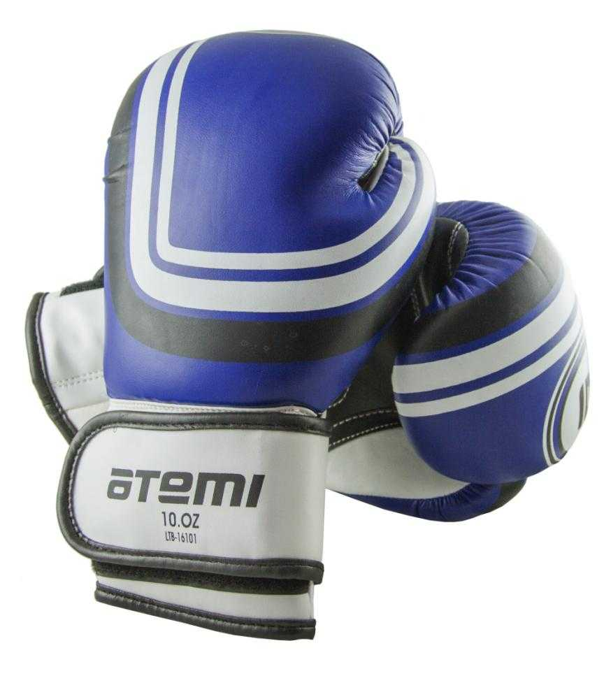 Перчатки боксерские ATEMI синие LTB-16101