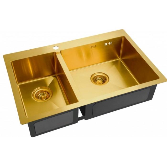 Врезная кухонная мойка ZorG SZR 78-2-51 R BRONZE
