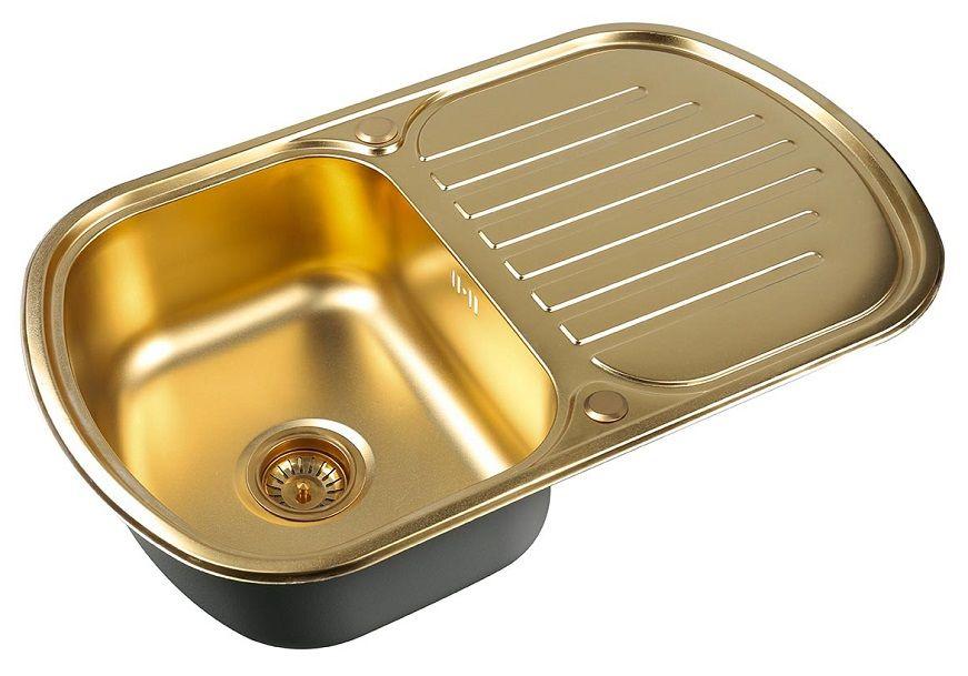 Врезная кухонная мойка ZorG PVD SZR-7749 BRONZE
