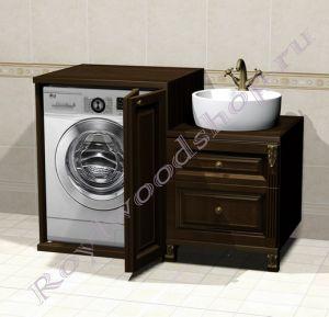 """Тумба под стиральную машину """" Челси-2 Эрго орех"""""""
