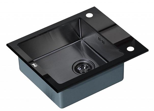 Врезная кухонная мойка ZorG GL-6051-BLACK GRAFIT